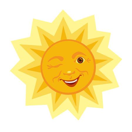 beam with joy: Winking merry sun