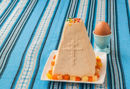 consulted: Traditional Easter dessert cheese pressed cottage cheese and eggs