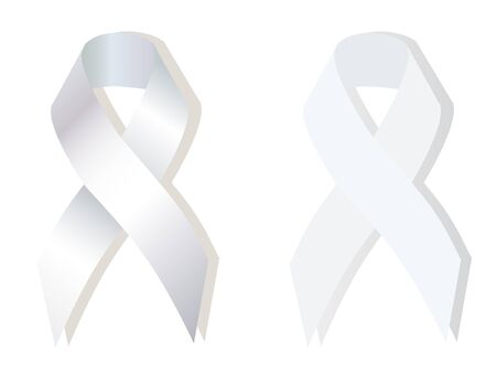 social awareness symbol: The White Ribbon Awareness  is used as a a symbol of the social movement for safe motherhood, sobriety, domestic violence, suicide teen gay for Fair Elections Illustration