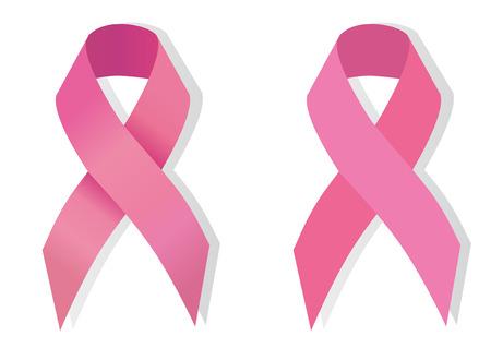 rak: Świadomość Pink Ribbon problem raka piersi Ilustracja