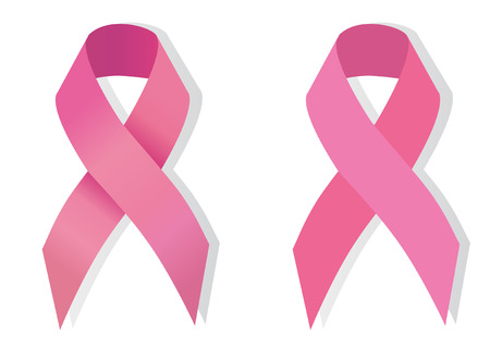 seni: Consapevolezza Nastro Rosa il problema del cancro al seno Vettoriali