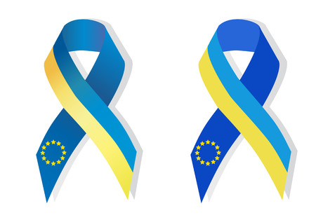 social movement: Ribbon support Ukraines joining the EU awareness