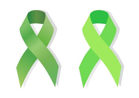 Green ribbon Scoliosis Awareness,   traumatic brain injury awareness and support, Mental health awareness, cerebral palsy awareness and support, aging research awareness, celiac disease, Lyme disease, organ transplant and organ donation awareness, kidney
