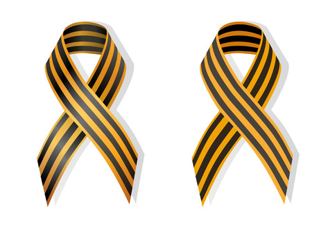 separatism: Ribbon of Saint George; commemoration of World War II in Post-Soviet countries also used as a symbol of the pro-Russian separative Illustration