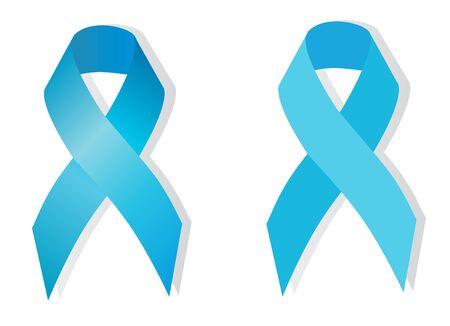 maltrato infantil: Conciencia carcinoma de la corteza suprarrenal (azul claro), conciencia del c�ncer de pr�stata (azul cielo) tambi�n simboliza el problema de la violencia contra los ni�os Vectores