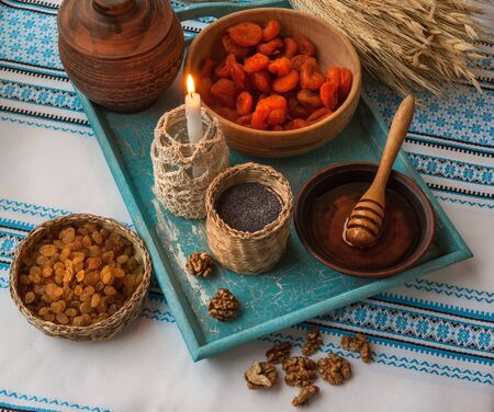 consuetude: Ingredients for kutia - traditional food for Christmas. Christmas Eve