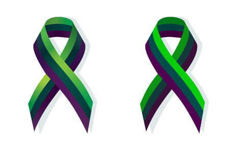 renal failure: Purple teal and green ribbon Medullary sponge kidney awareness