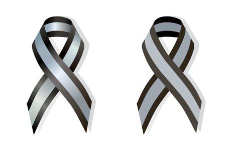 klatki piersiowej: Black and Silver Ribbon pectus excavatum Awareness