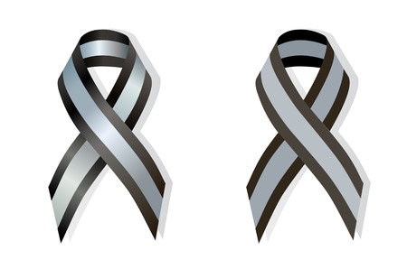 Black and Silver Ribbon pectus excavatum Awareness