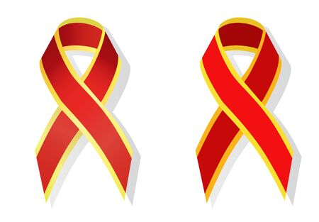 chromosomal: Red and gold ribbon neonatal alloimmune thrombocytopenia (NAIT) awareness