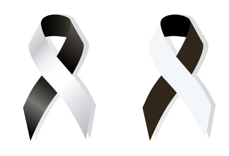 health concern: Black and White Ribbon Anti-Corruption, Anti-Racism, Carcinoid Syndrome Cancer, Diversity, Vaccine Awareness