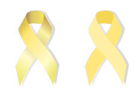 symbolized: Spina bifida awareness is symbolized by pale yellow ribbons.