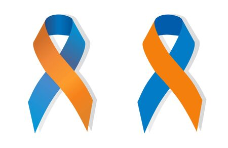caregivers: Orange and navy blue human rights for family caregivers awareness Illustration