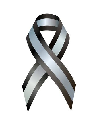 sternum: Black and Silver Ribbon pectus excavatum Awareness