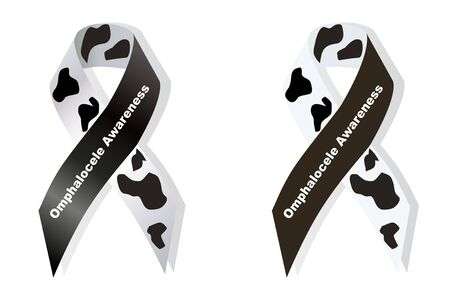 rupture: Cow print ribbon Omphalocele awareness