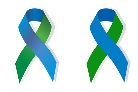 Blue and Green ribbon stands for support for Congenital CMV.