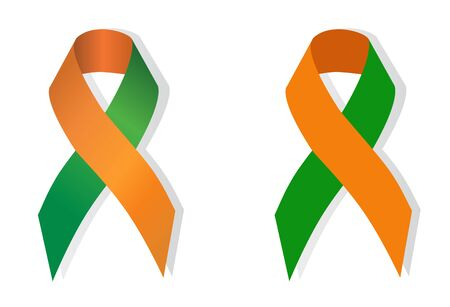 ritual: The green-orange ribbon stand for Ritual Abuse and Dual Diagnosis