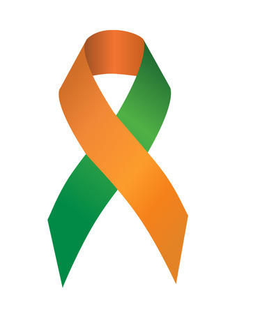 The green-orange ribbon stand for Ritual Abuse and Dual Diagnosis