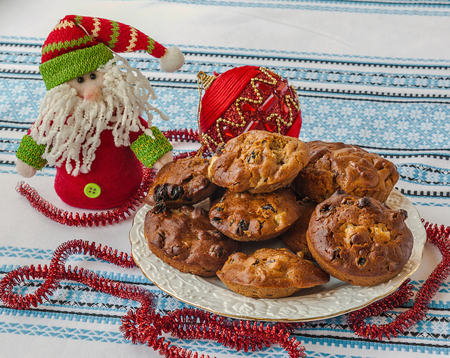 st nicholas: Traditional Ukrainian national lean baking for the holiday of St. Nicholas in honey and oil. The product of mass production Stock Photo