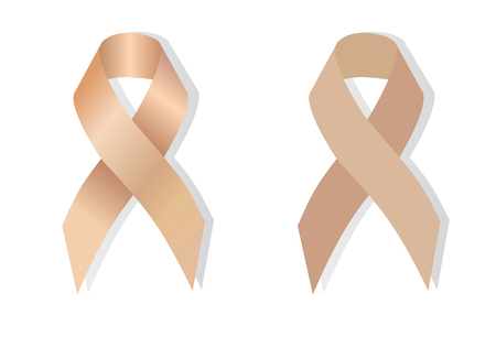 uterine: Peach ribbon stands for Uterine Cancer and Endometrial Cancer Awareness