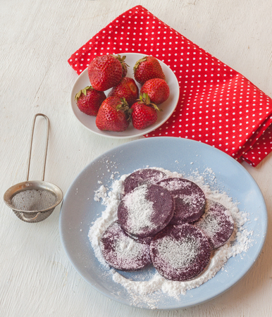 sweetstuff: Homemade pasta of strawberries on a plate  and strawberries