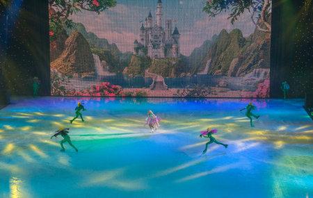 KIEV, UKRAINE-2017, Jan 2: at Palace of Sports  ice ballet Nutcracker in Kiev, Ukraine. Choreographer Dmitrenko, European champion of Figure Skating, director, artistic of Ukrainian theater ice Editorial