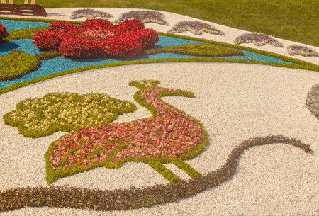 "KYIV, UKRAINE-AUG 18, 2017: Aug 18- Sep 11 at Spivoche Pole flower exhibition under name ""Ukrainian., Its .Special, V.S."" to 26 anniversary of Independence of Ukraine on 2017 in Kiev, Ukraine. Redakční"
