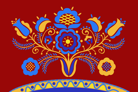 Crimean Tatar pattern Tree of Life Ilustracja
