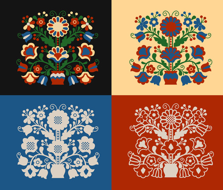 Set pattern Tree of Life Ilustracja