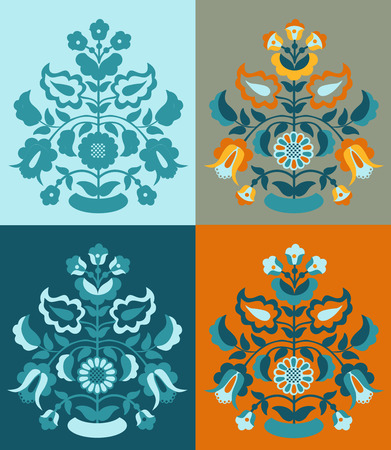 Set Crimean Tatar pattern vector
