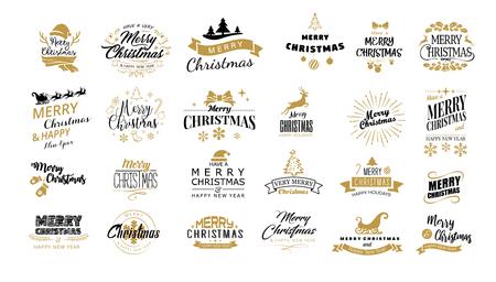 Lettering Merry Christmas.