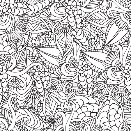 Dibujado A Mano Marco Artístico étnica Ornamentales Con Dibujos De ...