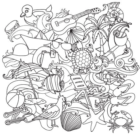 Sketchy Vector Hand Drawn Doodle Cartoon Set Of Objects And Symbols