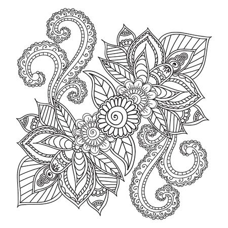 Dibujos Para Colorear Para Adults.Henna Mehndi Doodles Resumen ...