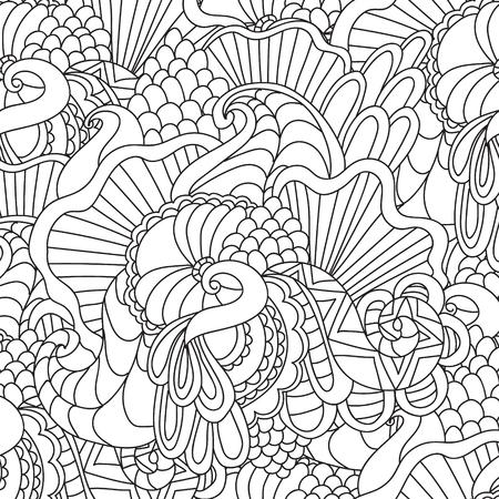 Colorear Páginas Para Adultos. Colorear La Mano Book.Decorative ...