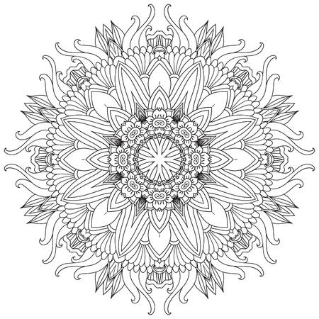 Mandala. Ronde Ornament.Vintage decoratieve elementen. Oosters patroon, vectorillustratie. Islam en Arabisch en Indiaas en Turks en pakistan, en Chinese, Ottomaanse motieven. Stock Illustratie