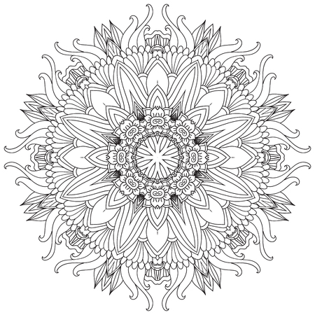 Mandala. Rund Ornament.Vintage dekorative Elemente. Orientalische Muster, Vektor-Illustration. Islam und arabische und indische und türkische und pakistan, und chinesisch, Ottomane Motive. Standard-Bild - 56483849
