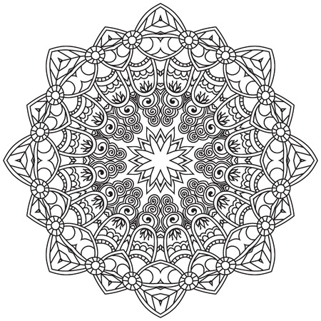 Mandala. Round Ornament.Vintage decorative elements. Oriental zentangle pattern, vector illustration. Islam and Arabic and Indian and turkish and pakistan, and chinese, ottoman motifs.