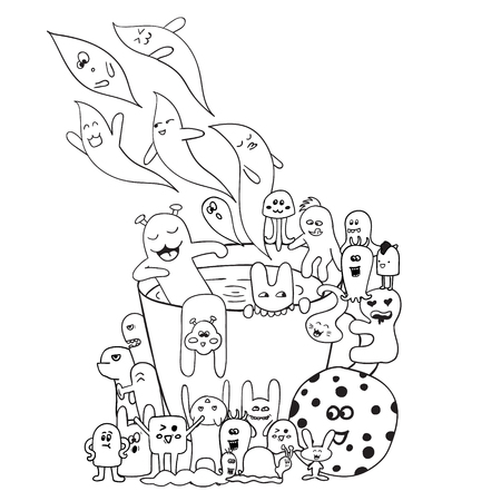 Coloring Pages For Adults Coloring Book LetteringWord Be Happy