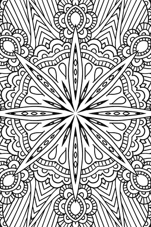 Mandala background. Round Ornament. Coloring book for adults. Oriental pattern, illustration. Islam and Arabic and Indian and turkish and pakistan, and chinese, ottoman motifs.