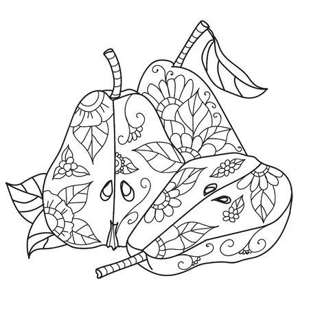 Dibujos Para Colorear Para Adultos. Dibujado A Mano Decorativos ...