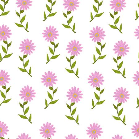 Seamless pattern illustration with beautiful flowers. Scandinavian style. Standard-Bild - 100126194