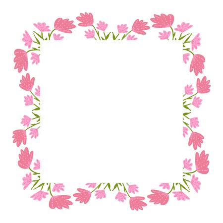 Beautiful wreath. Elegant floral frame hand drawn. Design for invitation, wedding or greeting cards. Standard-Bild - 121825927