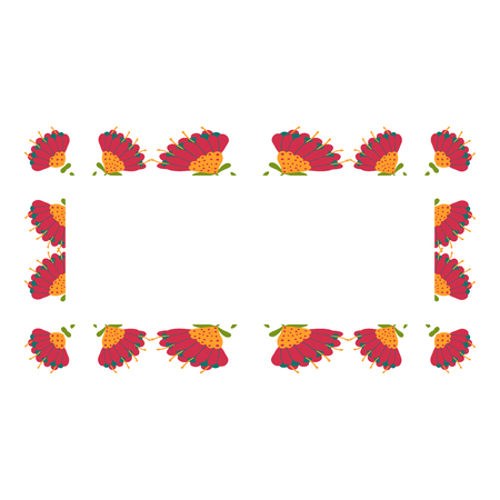 Beautiful wreath. Elegant floral frame hand drawn. Design for invitation, wedding or greeting cards.