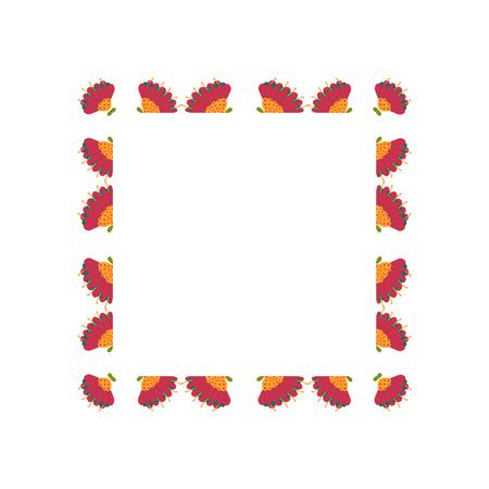 Beautiful wreath. Elegant floral frame hand drawn. Design for invitation, wedding or greeting cards. Standard-Bild - 121825933