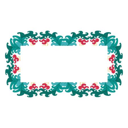 Beautiful wreath. Elegant floral frame hand drawn. Design for invitation, wedding or greeting cards. Standard-Bild - 121825934