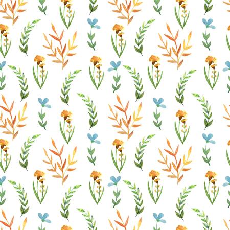 Seamless pattern watercolor flowers Standard-Bild - 110790121