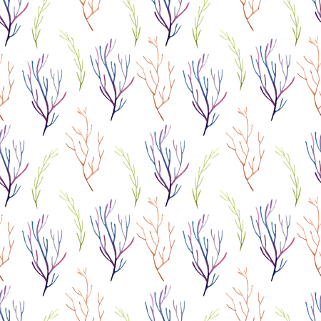 Seamless pattern watercolor flowers Standard-Bild - 110790124