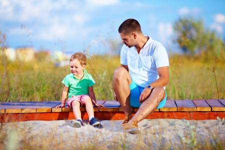 아버지와 아들 사이의 오해 스톡 콘텐츠