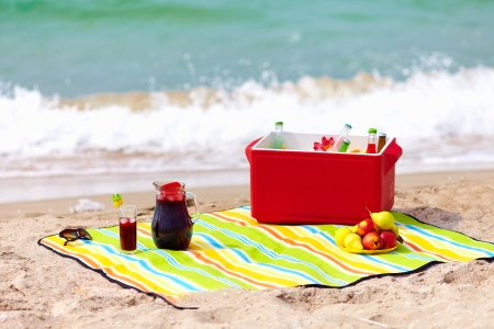 picnic on the beach photo
